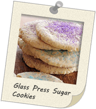 Glass Press Suagar Cookies